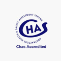 An image of the CHAS logo to demonstrate that A&J Painters and Decorators are members.